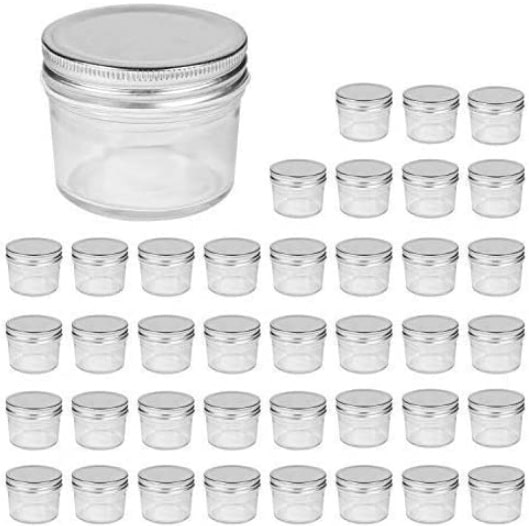 Accguan 4oz Glass Jars With Lids